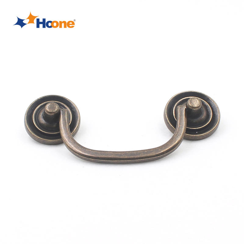 Antique brass handle furniture hardware zinc alloy A2603
