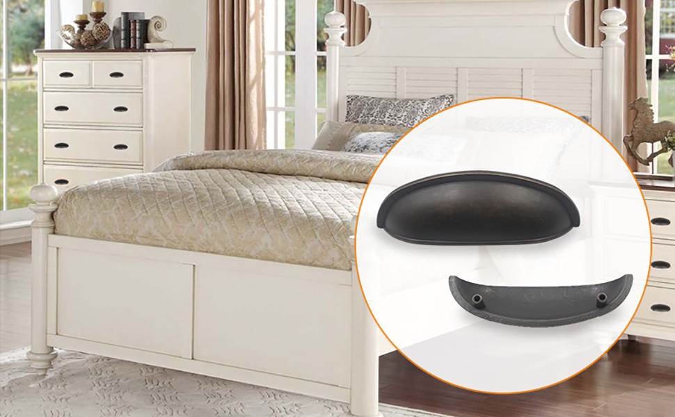 Hoone -Ear Shaped Cabinet Handle For Kicthen Furniture Hardware Zinc-3