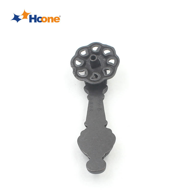 Black antique brass ring pull handle furniture hardware zinc alloy A6548