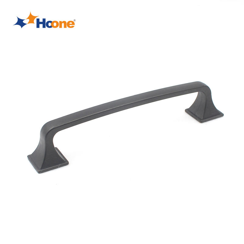 Most popular black cabinet pull handle furniture hardware zinc alloy A7066S