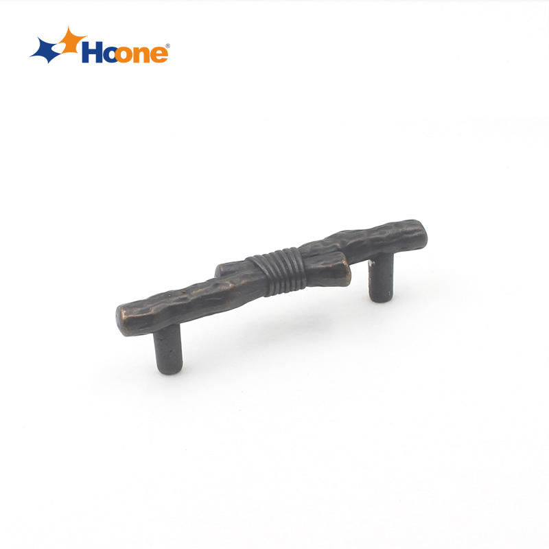 Classic american style handle branch shaped furniture hardware zinc alloy A10172