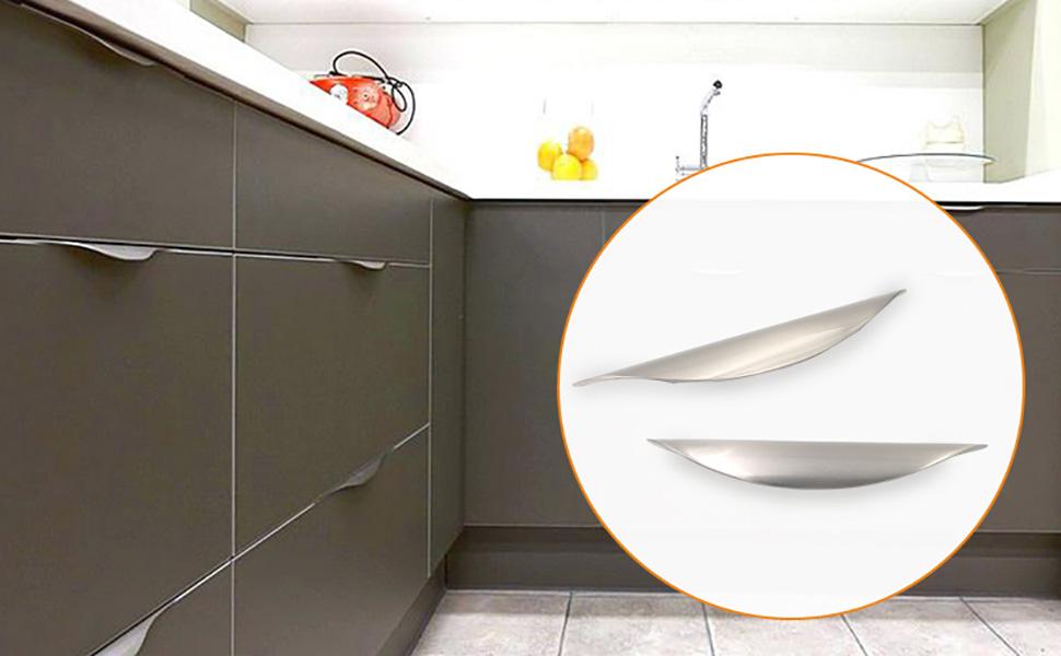 Hoone -Modern Style Handle For Kitchen Furniture Hardware Zinc Alloy-3