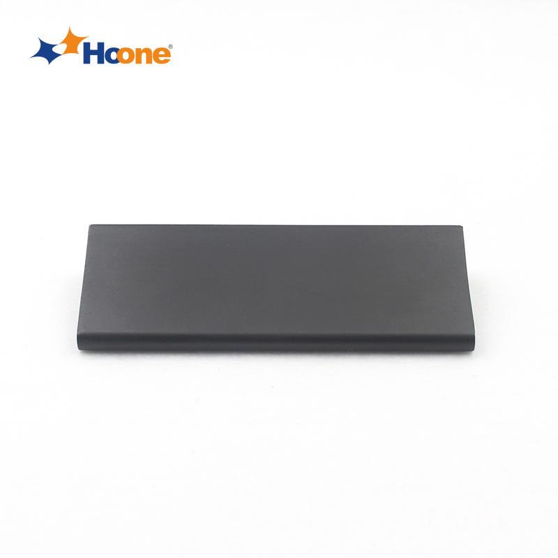 Modern matt black handle furniture hardware zinc alloy A5771