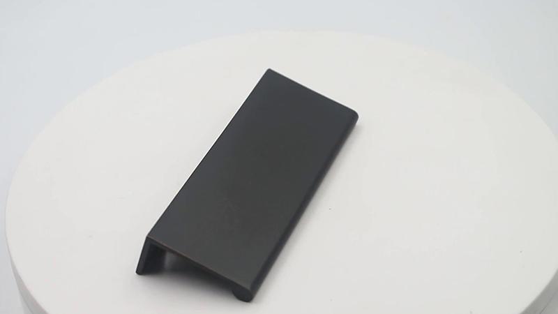 Modern matt black handle furniture hardware zinc alloy A5771 video